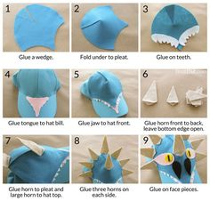 How to Train You Dragon Costume, Toothless, Hookfang and Stormyfly hats, easy dragon hats Crazy Hat Day, Crazy Hats, Dragon Birthday, Dragon Party, How To Train Your, How Train Your Dragon, Hat Patterns To Sew, Sewing Patterns, Diy Dragon Costume