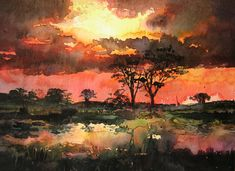 African+sunset+by+kalinatoneva.deviantart.com+on+@deviantART