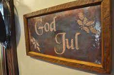 GOD JUL Scandinavian Christmas Copper Engraving by VetrinaDelVino, $45.00