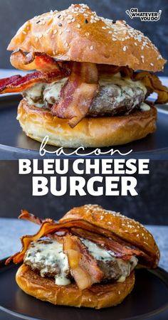 Best Burger Recipe, Burger Recipes, Grilling Recipes, Beef Recipes, Griddle Recipes, Traeger Recipes, Camping Recipes, Outdoor Cooking Recipes, Blue Cheese Burgers