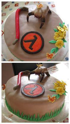 Half life cake...  I wish I could make something like this for you!