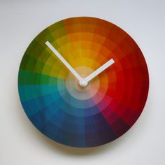 Objectify Color Wheel Wall Clock   Love this clock reminds me of my color theory class
