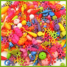500g(500pcs) Variety Beaded magic beads Diy Building Blocks Jewelry Accessories Arty beads Set Kids Intelligence Education Gifts