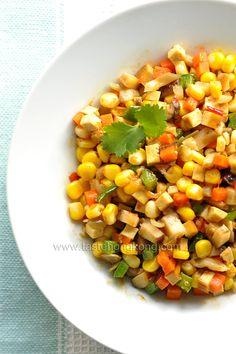Stir-Fried Corn | a Color Vegetarian Dish