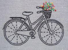 ༻❁༺   ༻❁༺  Conjunto de Bordados da Bicicleta do Clássico -  /   ༻❁༺   ༻❁༺  Kit Iin Classic Bike Embroidery -