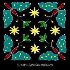 Kolangal: Flower Kolangal