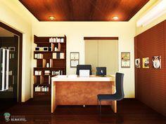 Architectural Rendering: Proposed TZM Rustic Office Interior Design