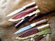 Viking short seax knives.