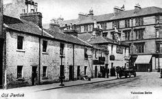 Old Glasgow photo of houses in Partick, opposite the corner of Hydrant Street and Dumbarton Road, Glasgow. Welcome to Victorian Glasgow, take a step back in time and wonder down the lives and events of Glasgow's Victorian Era. Glasgow Scotland, England And Scotland, Scotland Travel, Edinburgh, Glasgow Architecture, Scottish People, Family History Book, The Second City, Old Street