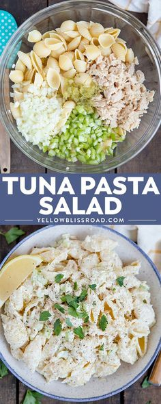 My Tuna Pasta Salad is the perfect picnic lunch or anytime meal. With tender pasta, a creamy dressing and healthy tuna, it's the perfect meal for any time. via Kristin B Salad Recipes For Dinner, Pasta Salad Recipes, Seafood Recipes, Cooking Recipes, Simple Salad Recipes, Drink Recipes, Cold Pasta Recipes, Easy Tuna Salad, Vegetables
