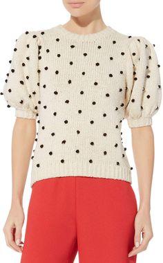 Ulla Johnson Bettine Polka Dot Embroidered Sweater