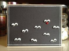 232076187020990812 Reindeer in the dark!!!!!  What a cute and clever use of googly eyes on this diy Christmas card!