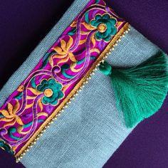 Embrague bohemio estilo boho bolso étnico bolso por BOHOCHICBYDAMLA