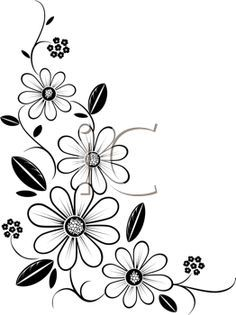 Iclipart royalty free clipart image of a flower cornerIdeas flowers black and white drawing doodles clip art for Botanical Corner stock images in HD and millions of other royalty-free stock photos, illustrations and vectors in the Shuttersto Free Clipart Images, Royalty Free Clipart, Royalty Free Images, Ribbon Embroidery, Embroidery Patterns, Crewel Embroidery, Flower Patterns, Flower Designs, Parchment Craft