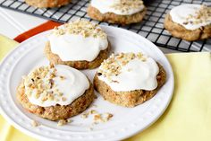 Carrot Cake is now the softest, yummiest cookies, topped with sweet cream cheese frosting! Gluten free or not-you choose!