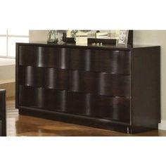 Amazon.com: Modus Furniture Maui Wave Six Drawer Dresser, Chocolate Brown: Furniture & Decor