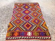 7'6 x 4'5 Turkish Kilim rug area rug rug vintage by PocoVintage