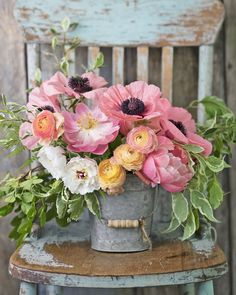 These Gorgeous Paint-by-Number Kits Feature Everything We Love About the Country. - These Gorgeous Paint-by-Number Kits Feature Everything We Love About the Country Country Living Paint-By-Number Kits – Order Country Pictures on Canvas Beautiful Flower Arrangements, Fresh Flowers, Silk Flowers, Spring Flowers, Floral Arrangements, Beautiful Flowers, Flowers Garden, Vase Of Flowers, Country Flower Arrangements