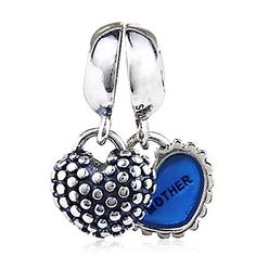 Soulbead Father Daughter Heart Charms Genuine 925 Sterling Silver Dangle Bead for Dad Gifts fit Major European Chain Bracelet