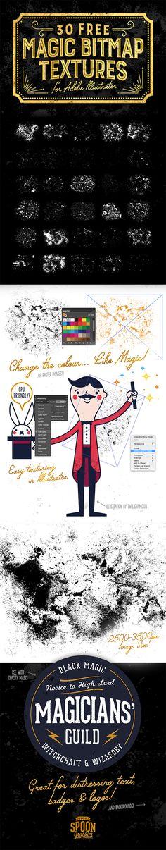 30 Free Magic Bitmap Texture Graphics for Adobe Illustrator