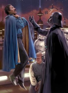 The Star Wars Movies Scenes from The Empire Strikes Back: Darth Vader & Lando Calrissian Anakin Vader, Vader Star Wars, Anakin Skywalker, Star Trek, Darth Vader, Star Wars Pictures, Star Wars Images, Star Wars Fan Art, Lando Calrissian