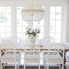 ballard designs dayna side chairs in dining room - Design Darling Coastal Bedrooms, Coastal Living Rooms, Style At Home, Style Blog, Coastal Decor, Coastal Style, Coastal Cottage, Coastal Farmhouse, Coastal Interior