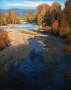 'Gros Ventre Overlook', by John Poon.  Love the light and shadow on these trees.