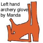 """This is my glove pattern for the left hand for traditional Eurasian steppes archery (Mongol, Hungarian, Hun, and so on). This is meant for use with a bow that does not have a """"shelf"""". It goes on th..."""