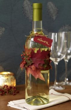 Fall/Thanksgiving Favours | Wine.