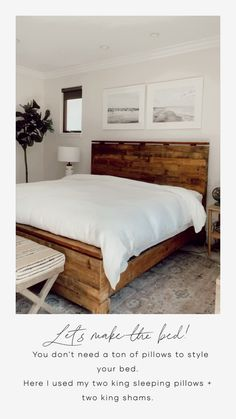Small Master Bedroom, Master Bedroom Makeover, Master Bedroom Design, Bedroom Simple, Bedroom Design Minimalist, Master Bedrrom, Natural Bedroom, Room Ideas Bedroom, Home Decor Bedroom