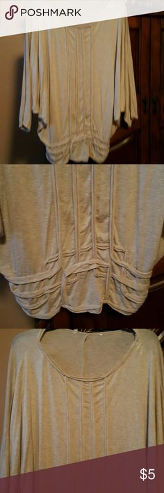 Cream blouse Soft cream color flowy top . I took the name tag out because it bugged me. Wore it twice. Great condition. Xl. Tops Blouses