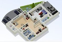You'll spend hours on this site! Create a room or an entire house. Throw in the furniture... then view it all in various 3D angles. Makes everything to scale so you'll have a useable floorplan or furniture layout. http://www.floorplanner.com/