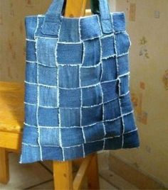 50+ easy and useful craft ideas for using old denim jeans. Crafts to recycle or re-purpose. Fun denim craft project ideas. DIY and no-sew old jeans projects to make. Simple, recycled jean craft ideas.