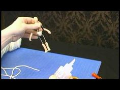 wrapping a wire armature for a poseable 1:12 scale figure