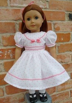 18 Doll Clothes 1940's Fashion Party Dress Fits by Designed4Dolls