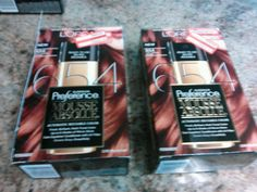 2 Boxes L'oreal Paris 654 Light Auburn Brown Hair Coloring Superior Preference
