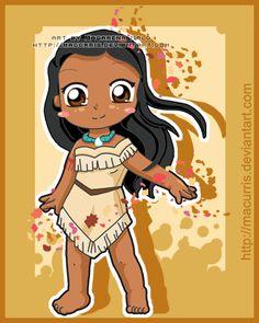 chibi pocahontas   também temos hoje... uma Pocahontas chibi! Ai, que coisinha fofa ...