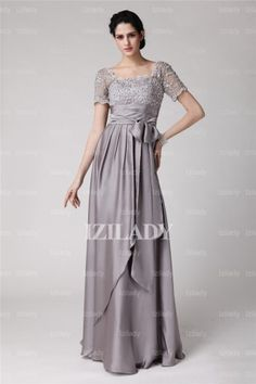 A-Line/Princess Square Floor-length Elastic Woven Satin Mother of the Bride Dress