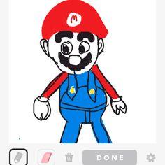I drew Mario on Draw Something! :)