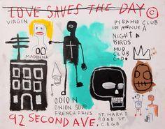 Jean-Michel Basquiat - Love Saves The Day-thrift store, Madonnas and JMB hangouts Franz Kline, Willem De Kooning, Henri Matisse, Jm Basquiat, Basquiat Tattoo, Jean Michel Basquiat Art, Love Saves The Day, Neo Expressionism, Art Advisor