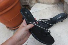 Black Sandals w/ rhinestones Women's Shoes Size (US) Reaction Kenneth Cole Online Garage Sale, Casual Heels, Black Sandals, Women's Shoes, Rhinestones, Best Deals, Leather, Ebay, Shopping