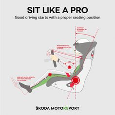 Proper seating position is key to effective driving. How to find the perfect way to sit in the car, with the help of professional rally drivers? Rally Drivers, Rally Car, Kart Cross, Safe Driving Tips, Car Facts, Racing Seats, Racing Wheel, Auto Racing, Racing Car Design