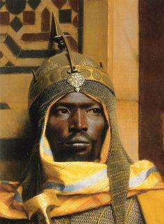 Portrait of Nubian Palace Guard - Ludwig Deutsch - Toile Artwork African American Art, African Art, Black History, Art History, Goldscheider, Empire Ottoman, Ludwig, African Diaspora, African History