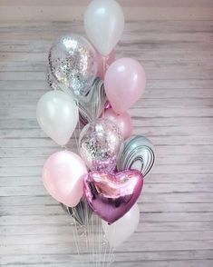 Do not know how and how to decorate a party? Or how to please children and surprise guests? How to create a festive mood with a small budget? Balloons are always a sense of celebration, joy and a sense of children's delight. Gold Confetti Balloons, Pink Balloons, Helium Balloons, Foil Balloons, Birthday Balloons, Balloon Bouquet, Balloon Garland, Balloon Decorations, Birthday Party Decorations
