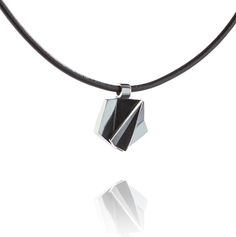 Men's pendant made of silver and leather. Scandinavian Design, Jewelry Collection, Jewelry Design, Pendants, Pendant Necklace, Silver, Leather, Gifts, Necklaces