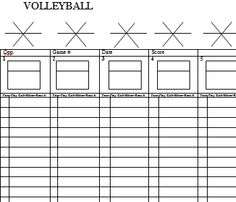 coaching diagrams/charts/stat sheets...for all that necessary paperwork at tournaments.