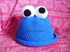 MarieCatmade: Gorro Cookie Monster