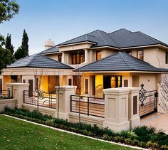 70 Most Popular Dream House Exterior Design Ideas - Ideaboz Dream Home Design, Modern House Design, Villa Plan, Exclusive Homes, Luxury Homes Dream Houses, Dream Homes, Dream House Exterior, Facade House, Custom Home Builders