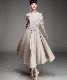 #vintage #classic #runway #couture #beige #coat #dress #belted