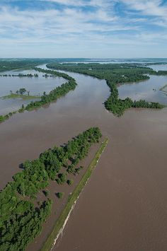 MIssouri River Flood, Big Lake State Park, Missouri